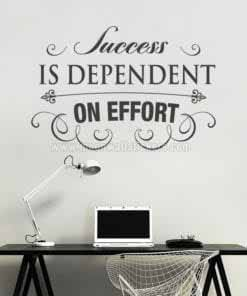 Success is Effort wall decal
