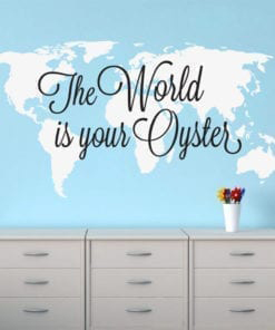 The World is Your Oyster World Map Sticker