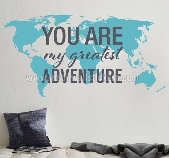 World map stickers you are my greatest adventure gumiabroncs Images