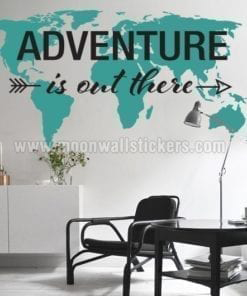 Adventure is Out There World Map Decal