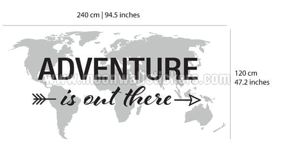 Adventure is out there world map decal adventure is out there world map decal dimensions gumiabroncs Images