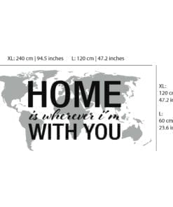Home Is Wherever Im With You - Dimensions