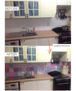 Patchwork Tile Stickers - Before & After