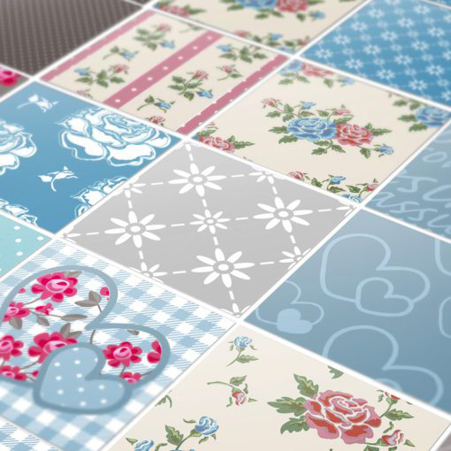 Patchwork Tile Stickers - Detail