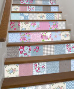 Patchwork Tile Stickers - Stairs