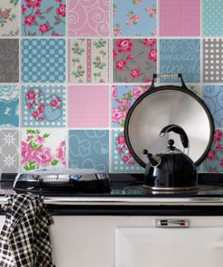 Patchwork Tile Stickers - Wall