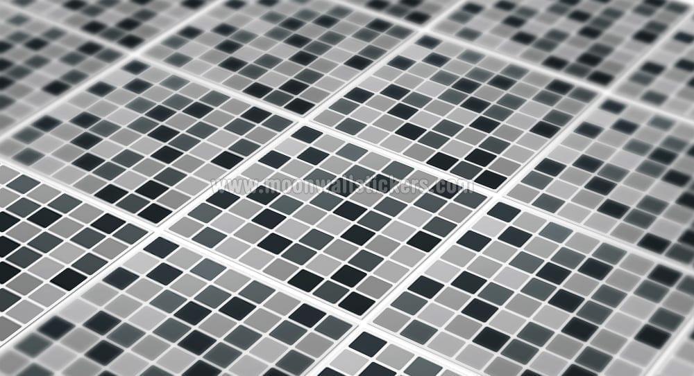 Black Mosaic Tiles Decals Detail
