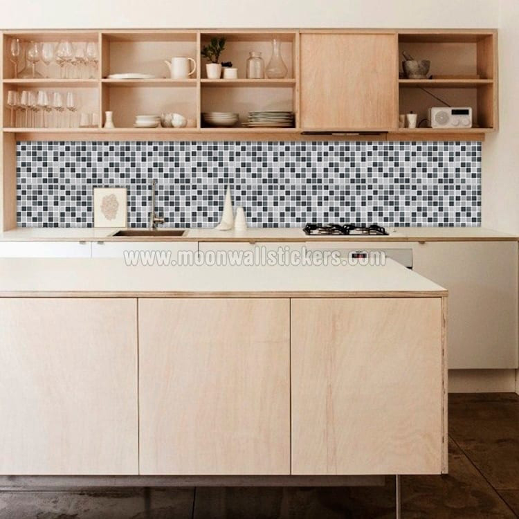Black Mosaic Tiles Decals