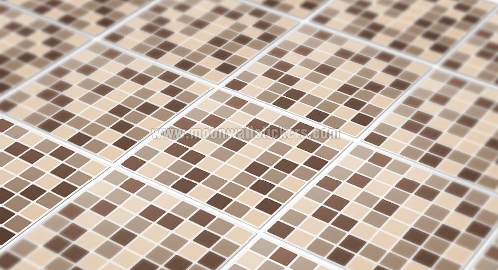 Mosaico damson piastrelle adesivi set di moonwallstickers