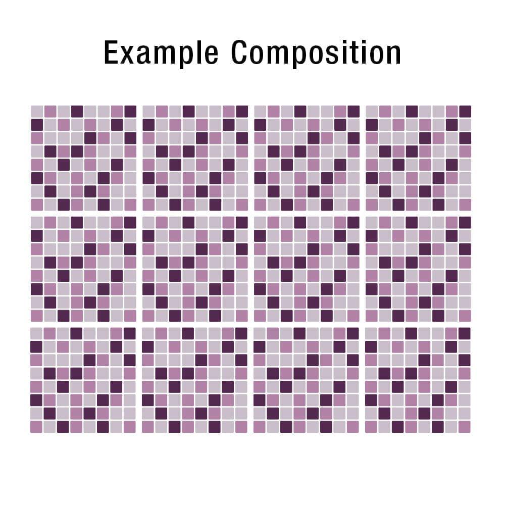 Mosaico lilla piastrelle adesivi set di 24 for Stickers adesivi per piastrelle