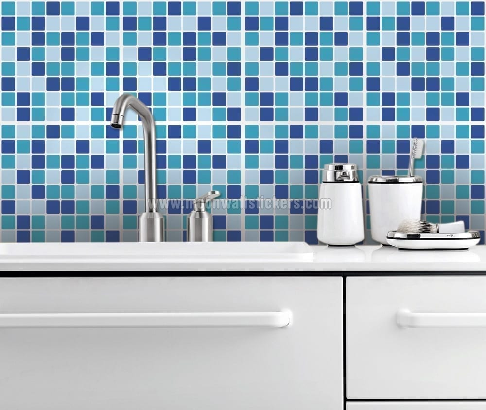 Mosaic Ocean Tiles Stickers (Pack of 24)