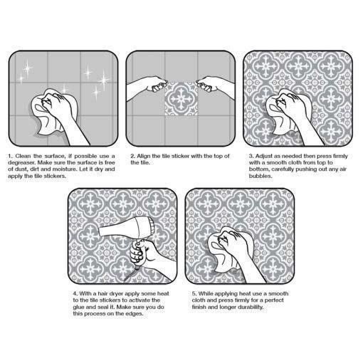 Talavera Tile Decals - Application
