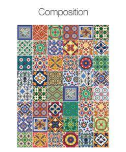 Talavera Tile Decals - Composition