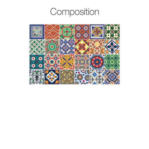 Talavera Tile Decals - Composition 24