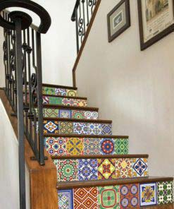 Talavera Tile Decals - Stairs 1