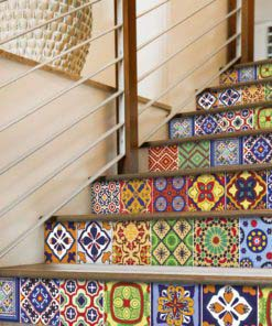 Talavera Tile Decals - Stairs