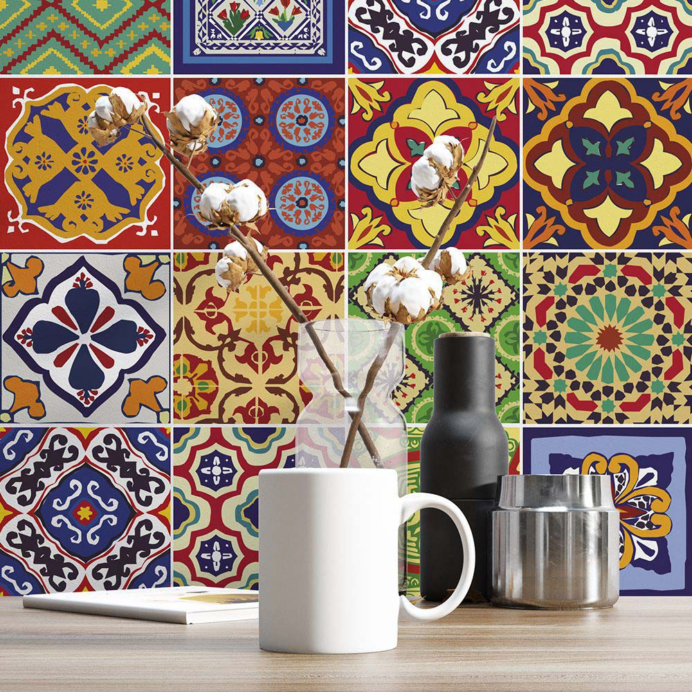 Talavera Tile Decals Pack Of 48