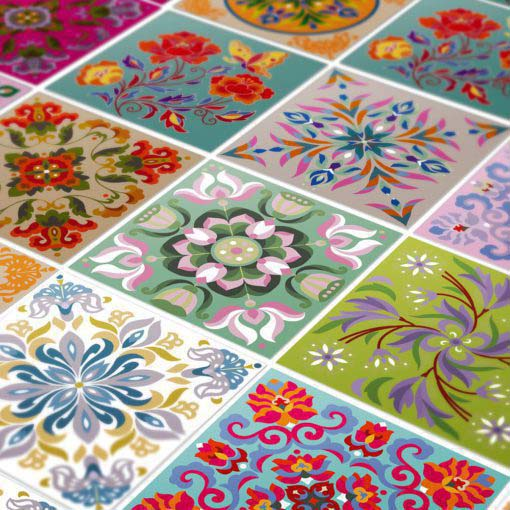 Tibetan Traditional Tiles Decals - Detail