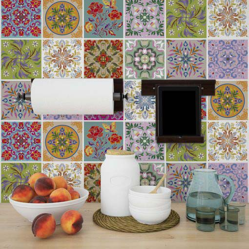 Tibetan Traditional Tiles Decals - Wall