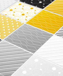 Tiles Stickers Yellow Gray - Detail