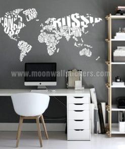 World Map Stickers