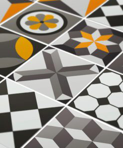 Vintage Geometric Tile Decals - Detail