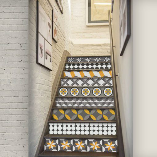Vintage Geometric Tile Decals - Escadas