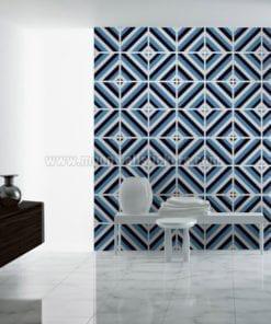 Diagonal Mid Century Tiles