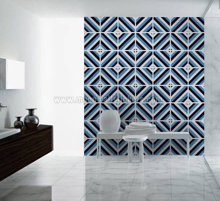 Diagonal Mid Century Tiles (Pack of 48)