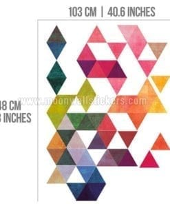 Multi Colored Triangles Dimensions