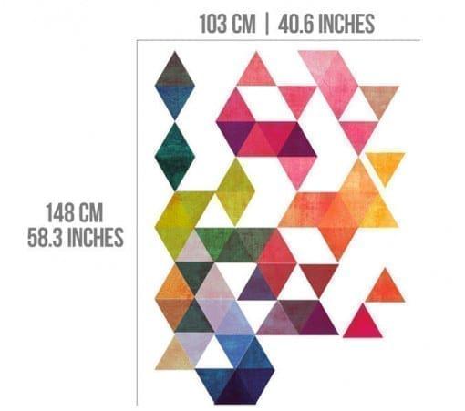 Multi Colored Triangles Dimensions