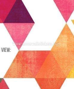 Multi Colored Triangles Detail