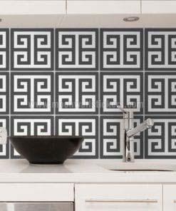 Greek Pattern Tile Stickers