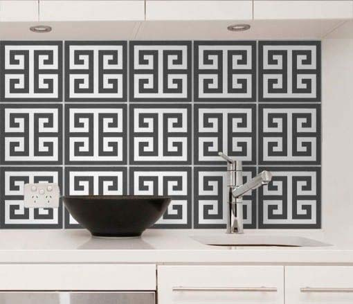 Greek Pattern Tile Stickers