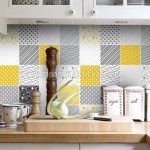 Tiles Stickers Yellow Gray