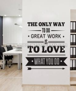 Office Decor Typography Inspirational Sticker