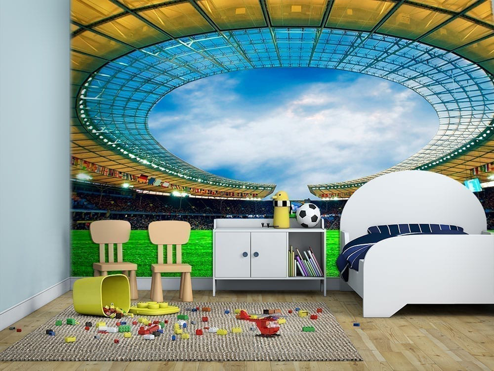 Football Wall Murals football stadium wall mural - moonwallstickers
