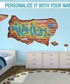 Urban wall stickers personalized graffiti custom name gumiabroncs Image collections