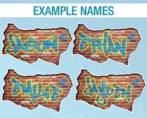 Personalized Graffiti - Custom Name - Examples