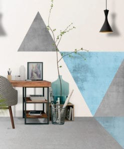 Geometric Blue with Floor Graphics