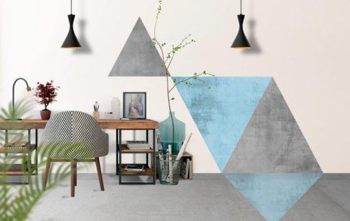 Geometric Blue with Floor Graphics