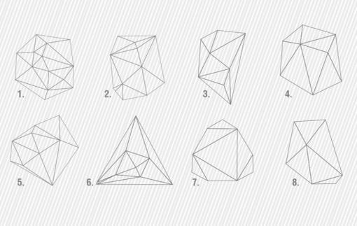 Geometric Mid Century Outlines Models
