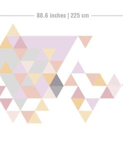Geometric Triangles Pastel Dimensions