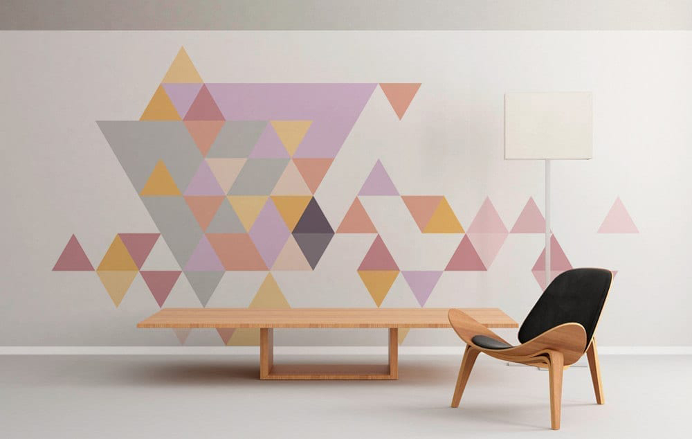 Geometric triangles pastel Painting geometric patterns on walls