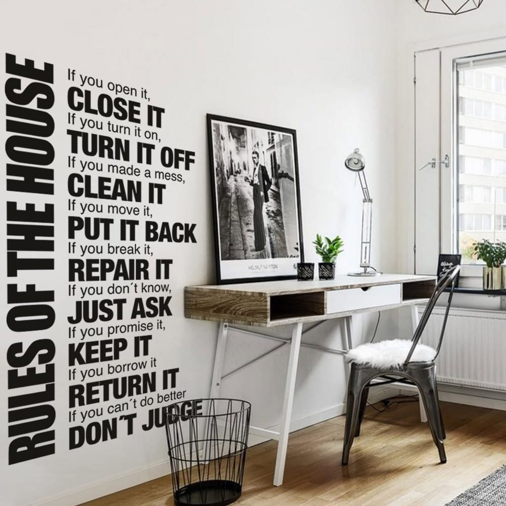 House Rules Sticker