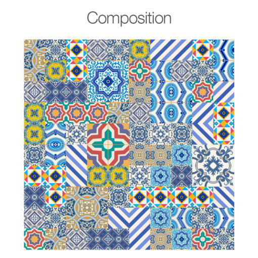 Royal Traditional Tile Decals - Composition
