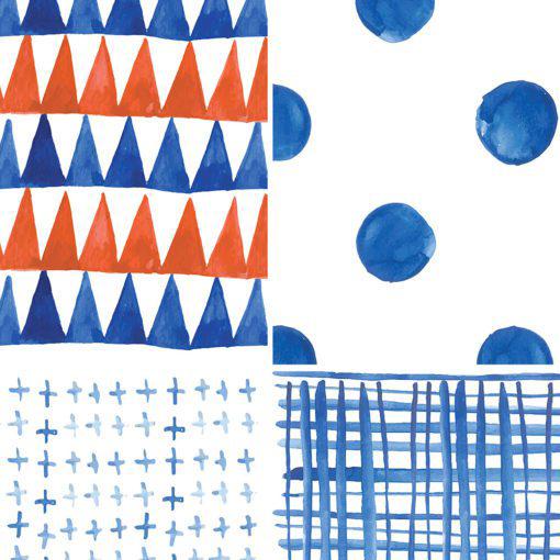 Shibori Watercolor Tile Decals - Detail 1