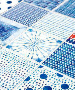 Shibori Watercolor Tile Decals - Detail