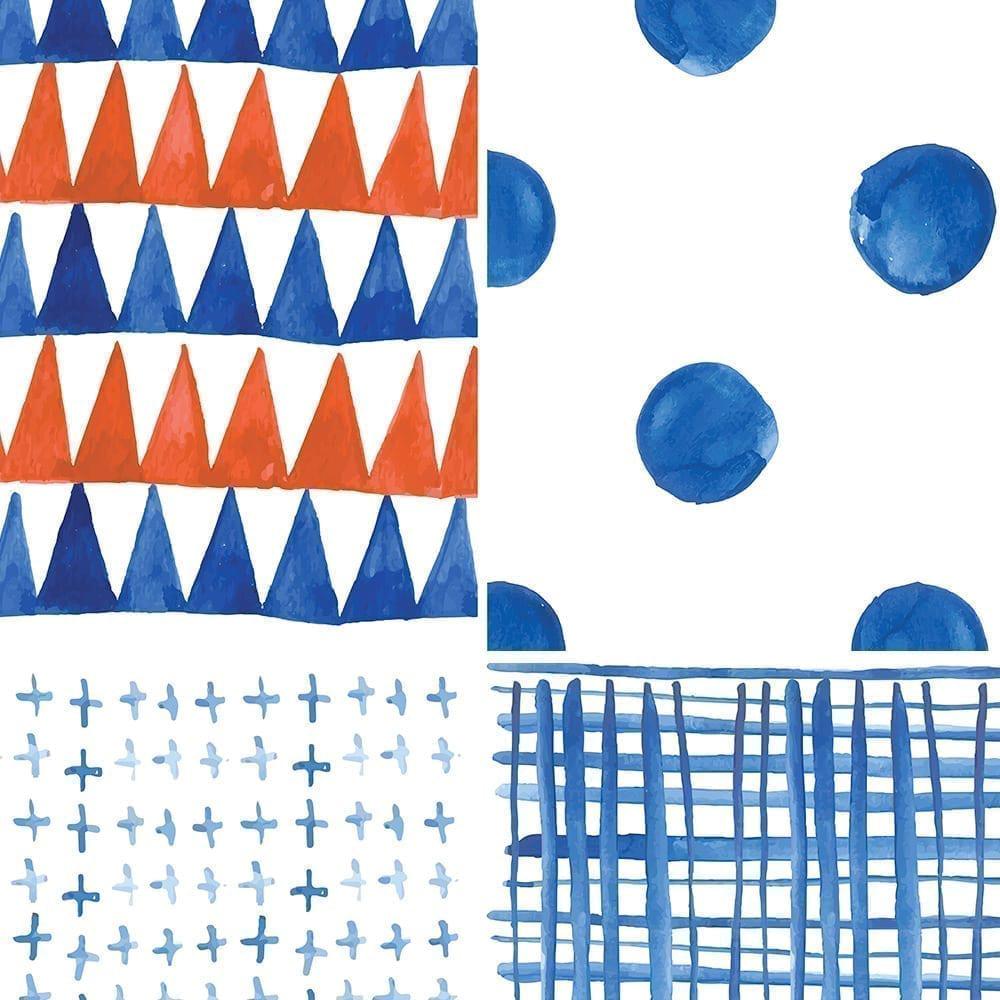 Shibori Watercolor Tile Decals Pack of 24 Moonwallstickerscom