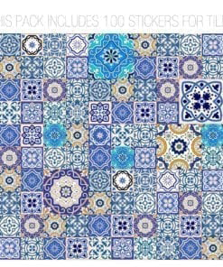 Talavera Traditional Tile Decals Composition